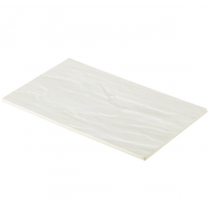 White Slate Effect Melamine Platter GN 1/4 26.5 x 16cm