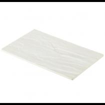 White Slate Effect Melamine Platter GN 1/2 32.5 x 26.5cm