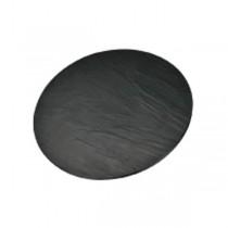 Slate/Granite Effect Reversible Round Melamine Platter 33cm