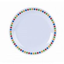 Melamine Dinner Plates Coloured Circles 16cm