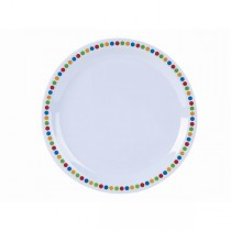 Melamine Dinner Plates Coloured Circles 22.5cm