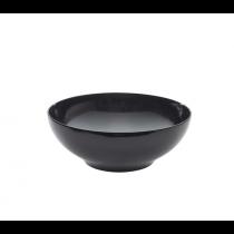Melamine Black Round Bowl 25.7 x 9.3cm