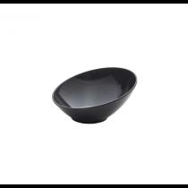 Melamine Black Slanted Buffet Bowl 21 x 20 x 10cm
