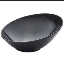Melamine Black Slanted Buffet Bowl 30 x 29 x 13cm