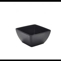Melamine Black Curved Square Bowl 19 x 9.5cm