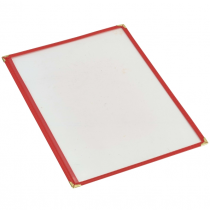 American Style Menu Holder A4 Red