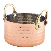 Mini Hammered Copper Casserole Dish 32cl 11.25oz