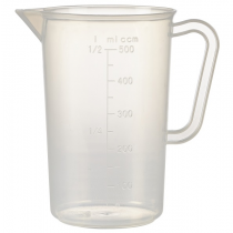 Polypropylene Measuring Jug 0.5Ltr