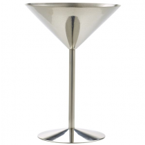 Stainless Steel Martini Glass 8.5oz / 24cl