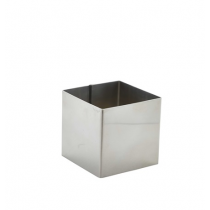 Stainless Steel Square Mousse Ring 6 x 6cm