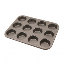 Genware Non-Stick 12 Cup Muffin Tray