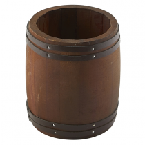 Miniature Dark Wooden Barrel