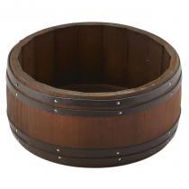 Miniature Dark Wooden Barrel 16.5 x 8cm