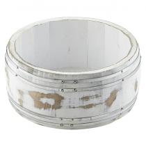 Miniature White Wash Wooden Barrel 16.5 x 8cm