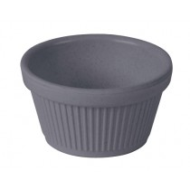 Bamboo Fluted Ramekin Light Grey 2oz