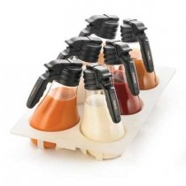 1.5Ltr NSF Salad Deressing Dispenser Set With White Tray
