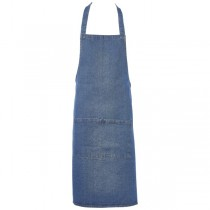 Washed Denim Bib Apron 70 x 90cm