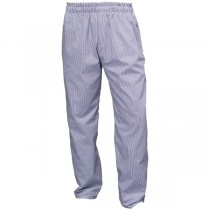 Genware Blue & White Small Check Baggies Trousers