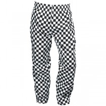 Genware Black & White Large Check Baggies Trousers