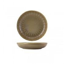 Terra Porcelain Matt Grey Scalloped Coupe Bowl 20.3cm