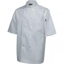 Genware Short Sleeve Chefs Jacket White