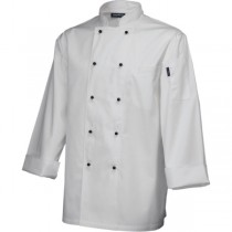 Genware Long Sleeve Superior Chefs Jacket White