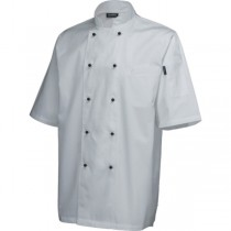Genware Short Sleeve Superior Chefs Jacket White