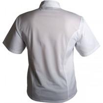 Genware Coolback Press Stud Short Sleeve Chefs Jacket
