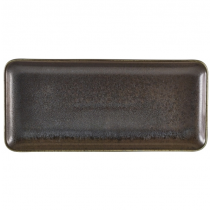 Terra Porcelain Cinder Black Narrow Rectangular Platter 30 x 14cm