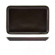 Terra Porcelain Black Rectangular Platter 30 x 20cm