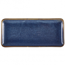 Terra Porcelain Aqua Blue Narrow Rectangular Platter 30 x 14cm