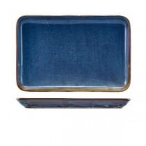 Terra Porcelain Aqua Blue Rectangular Platter 30 x 20cm