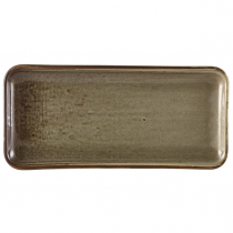 Terra Porcelain Smoke Grey Narrow Rectangular Platter 27 x 12.5cm