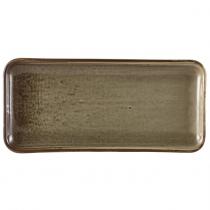 Terra Porcelain Grey Narrow Rectangular Platter 27 x 12.5cm