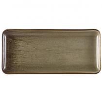 Terra Porcelain Grey Narrow Rectangular Platter 30 x 14cm