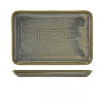 Terra Porcelain Matt Grey Rectangular Platter 30 x 20cm