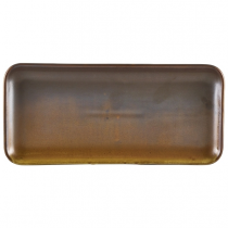 Terra Porcelain Rustic Copper Narrow Rectangular Platter 27 x 12.5cm