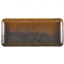 Terra Porcelain Rustic Copper Narrow Rectangular Platter 30 x 14cm