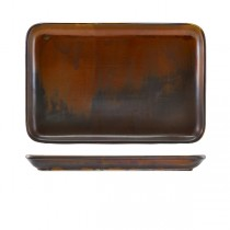 Terra Porcelain Rustic Copper Rectangular Platter 30 x 20cm