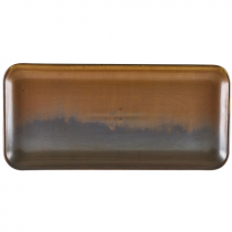 Terra Porcelain Rustic Copper Narrow Rectangular Platter 36 x 16.5cm