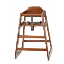 Wooden High Chair Walnut