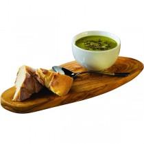 Genware Olive Wood Rustic Platter 26 x 13cm