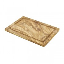 Olive Wood Serving Board With Groove 30 x 20cm