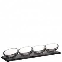 Nude Quartet Serving Set with Slate - 4 Sets