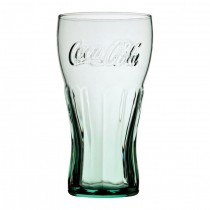 Georgian Green Toughened and Nucleated Coca Cola Glasses 16oz / 45cl