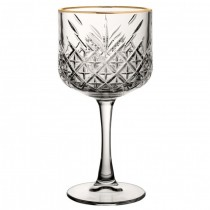 Timeless Vintage Cocktail Glass with Gold Rim 19.25oz / 55cl