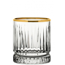 Elysia Double Old Fashioned Tumblers Gold Rim 12.5oz / 36cl