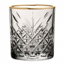 Timeless Vintage Gold Double Old Fashioned Rocks Tumbler 12.5oz 35.5cl