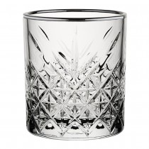 Timeless Vintage Double Old Fashioned Gunmetal Rocks Tumbler 12.5oz
