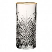 Timeless Vintage Long Glasses Gold Rim 10.5oz / 30cl